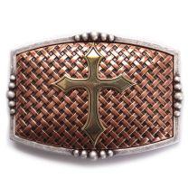 Nocona Mens Western Gold Cross Cowboy Buckle Copper