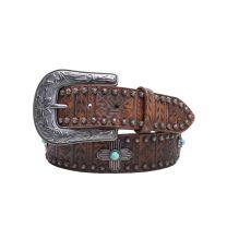 Nocona Womens Tribal Aztec Leather Belt