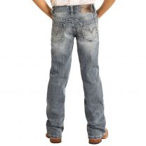 Rock and Roll Children Boys Light Wash Boot Cut Jeans