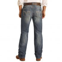 Rock and Roll Mens Reflex Double Barrel Straight Jeans