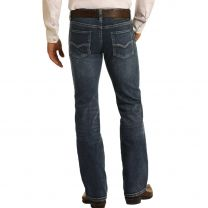 Rock and Roll Mens Dark Vintage Straight Jeans