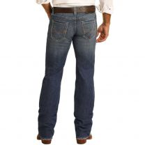 Rock and Roll Mens Straight Dark Vintage Jeans