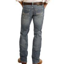 Rock and Roll Mens Vintage Pistol Regular Straight Jeans