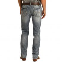 Rock and Roll Mens Vintage Light Slim Straight Jeans