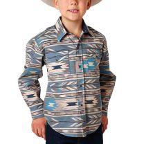 Roper Children Boys Southwest Long Sleeve Snap Shirt