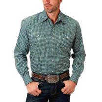 Roper Mens Long Sleeve Amarillo Snap Shirt