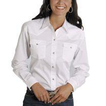 Roper Womens Long Sleeve White Snap Shirt