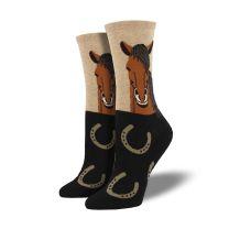 Western Womens Horse Portrait Boot Socks