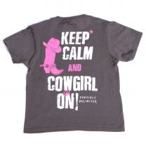 Cowgirls Unlimited Girls Keep Calm and Cowgirl On T Shirt