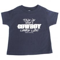 Boys Toddler What a Cowboy Looks Like T Shirt Navy