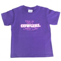 Cowgirl Unlimited This is What a Cowgirl Looks Like T Shirt
