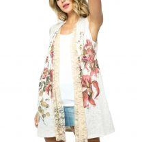 Vocal Womens Vintage Floral Cardigan Duster