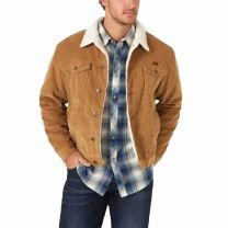 Wrangler Mens Prairie Sherpa Lined Corduroy Jacket