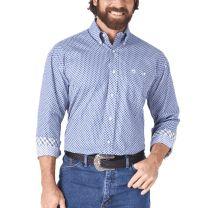 Wrangler Mens George Strait Navy Button Down Shirt