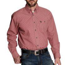 Wrangler Mens George Strait Red Button Down Shirt
