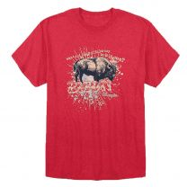 Wrangler Mens Western Bison Joke T Shirt