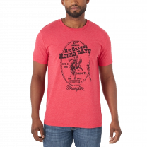 Wrangler Mens Red Rodeo Days T Shirt