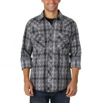 Wrangler Mens Retro Premium Overprint Snap Shirt