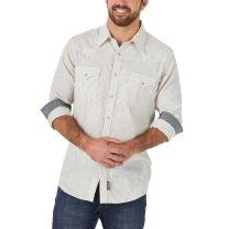Wrangler Retro Mens Vertical Stripe Snap Shirt