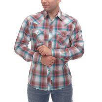 Wrangler Retro Premium Mens Multi Plaid Snap Shirt