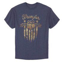 Wrangler Mens Patriotic Badge Logo T Shirt
