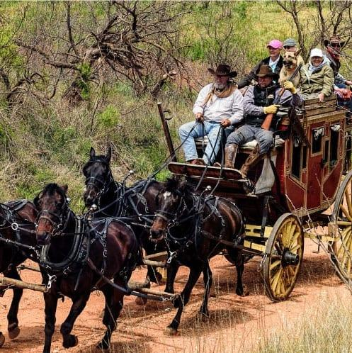 1880 Overland Silver Dollar City Stagecoach Coming to PFI Western Store