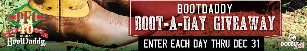 PFI BootDaddy Boot-A-Day Giveaway