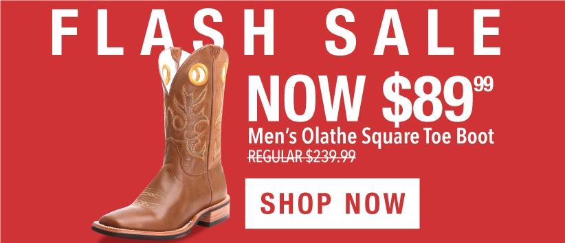 Mens Olathe Cowboy Boots Flash Sale