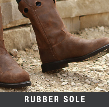 rubber sole cowboy boots