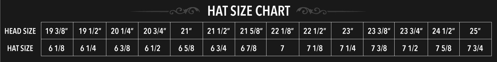 Hat Size Chart