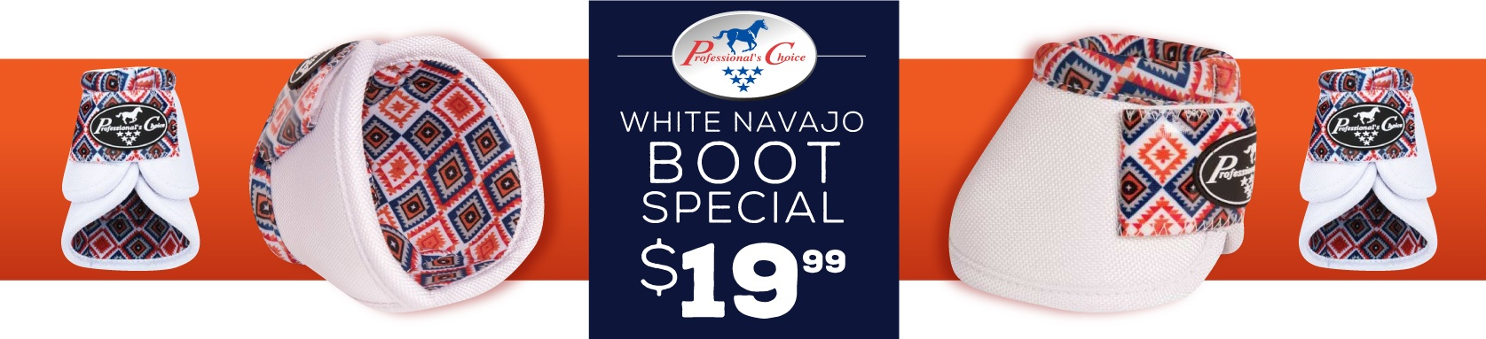 Professionals Choice White Overreach Boots
