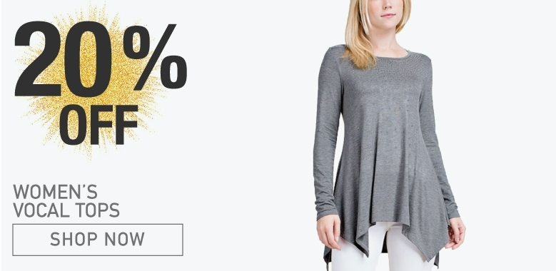 Womens Vocal 20% Off Tops