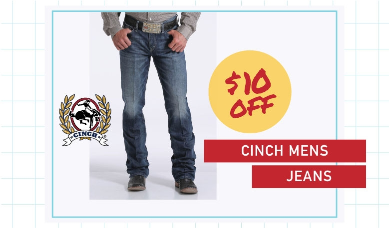 Cinch Jeans $10 off
