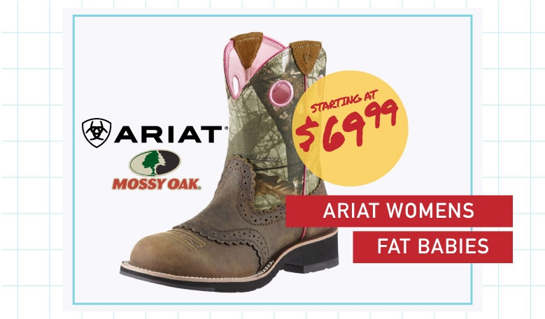 Womens Ariat Fatbaby start at $69.99