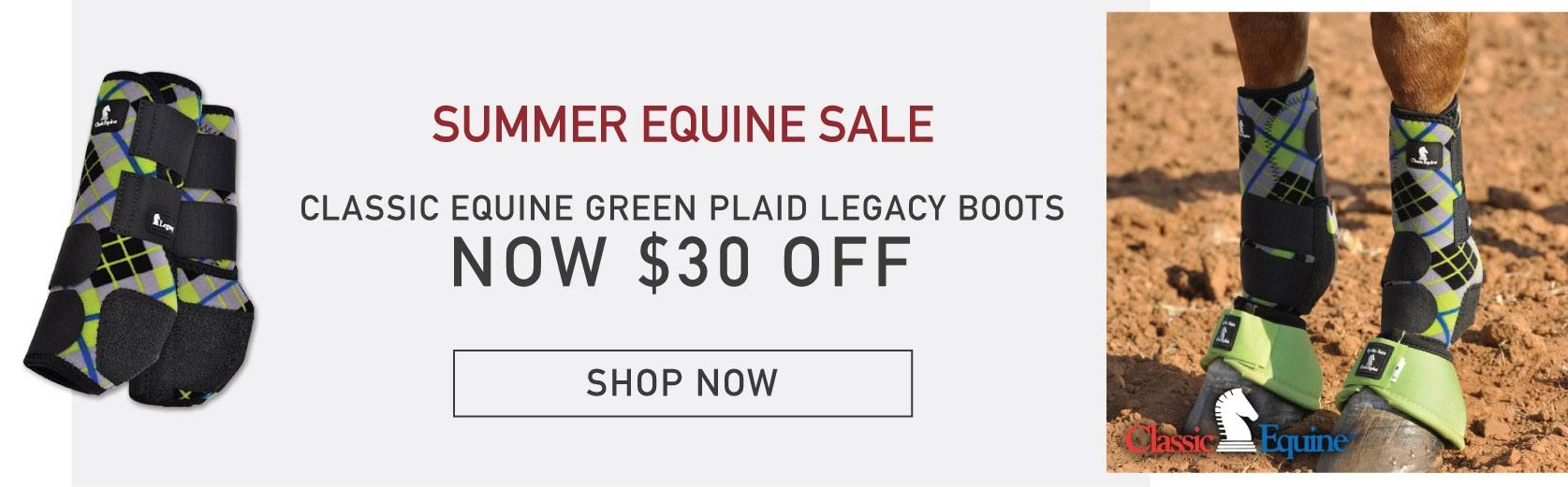 Classic Equine Green Plaid Legacy