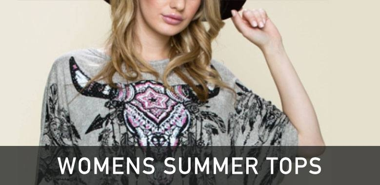 Womens Western Summer Tops