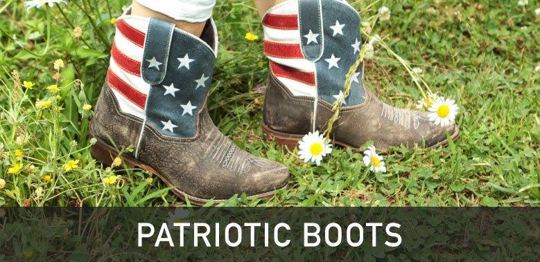 Patriotic Flag Cowboy Boots