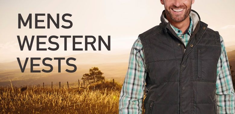 Mens Western Vests