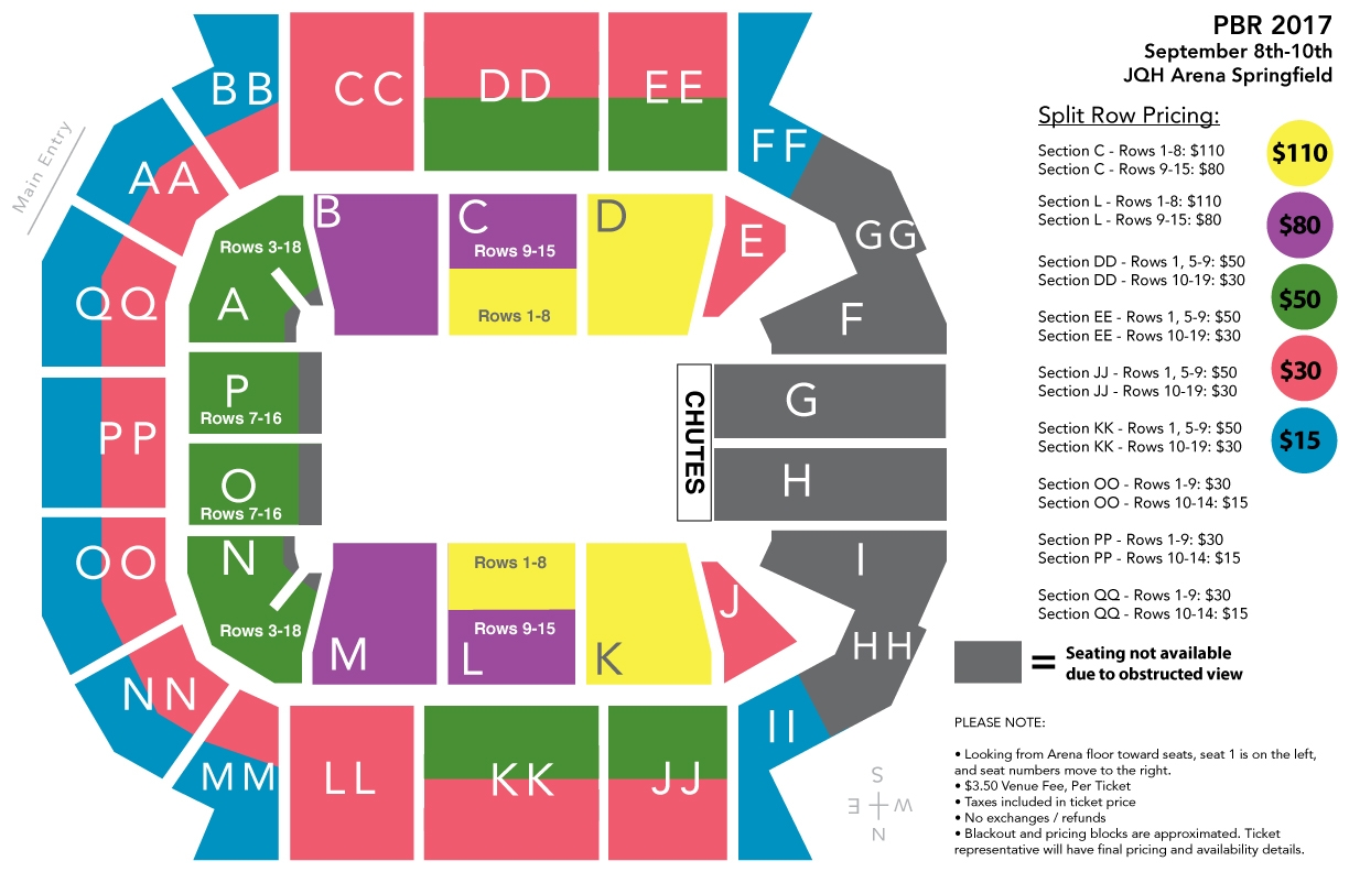 PBR Seating Chart