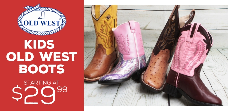 Kids Old West Boots