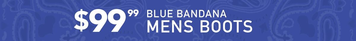 Blue Bandana Mens