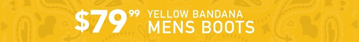 Yellow Bandana Mens