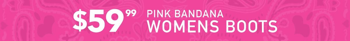 Pink Bandana Womens