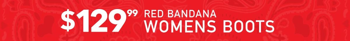 Red Bandana Womens