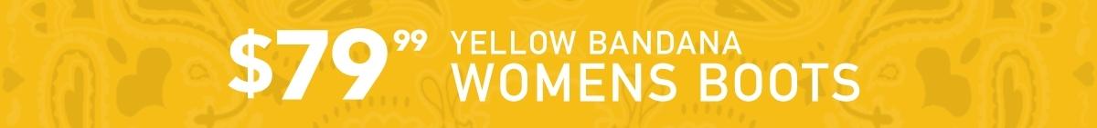 Yellow Bandana Womens