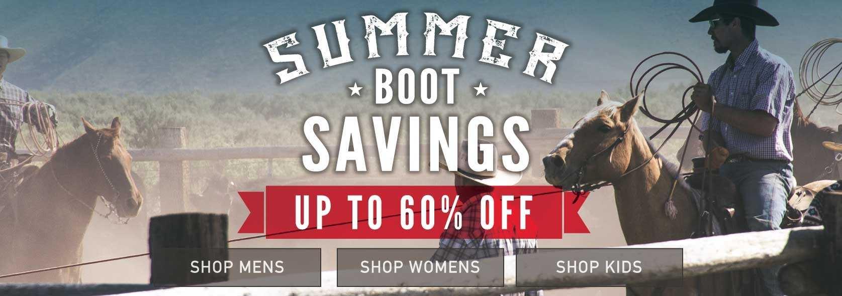 Summer Boot Sale