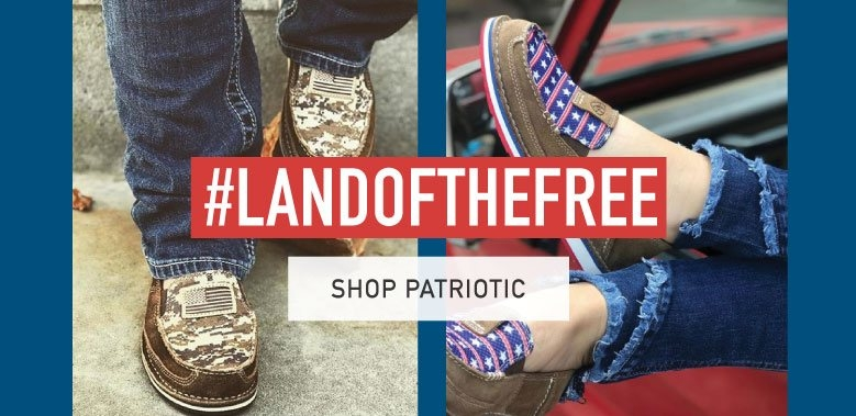 Womens patriotic shoes and clothing
