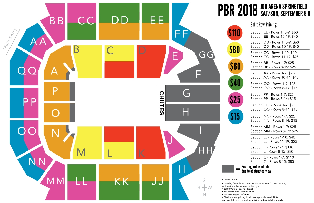 Saturday and Sunday Sept 8th and 9th Seating Chart