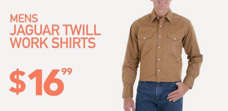 Mens Heavy Twill Work Shirts