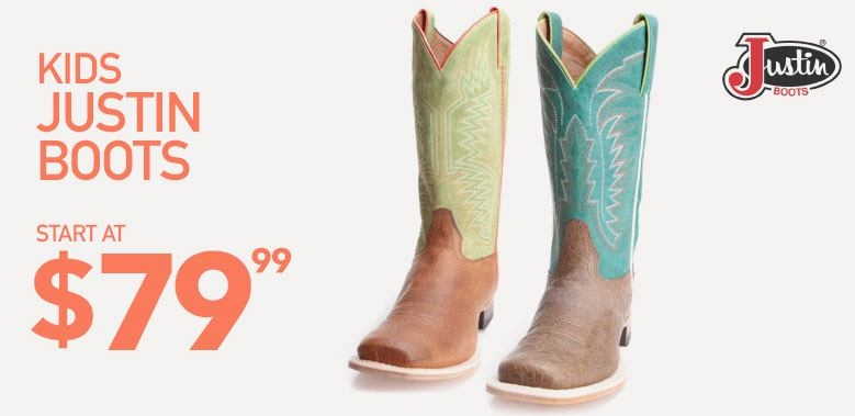 Justin Kids Cowboy Boots on Sale